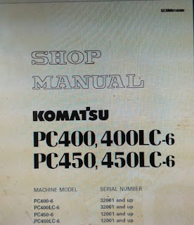 SEBM014508 Shop manual komatsu pc400-6 pc400lc-6 pc450-450lc-6