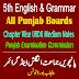 5th Class English & Grammar Punjab Board PDF Updated Notes