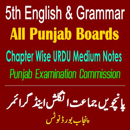 5th Class English PDF Notes