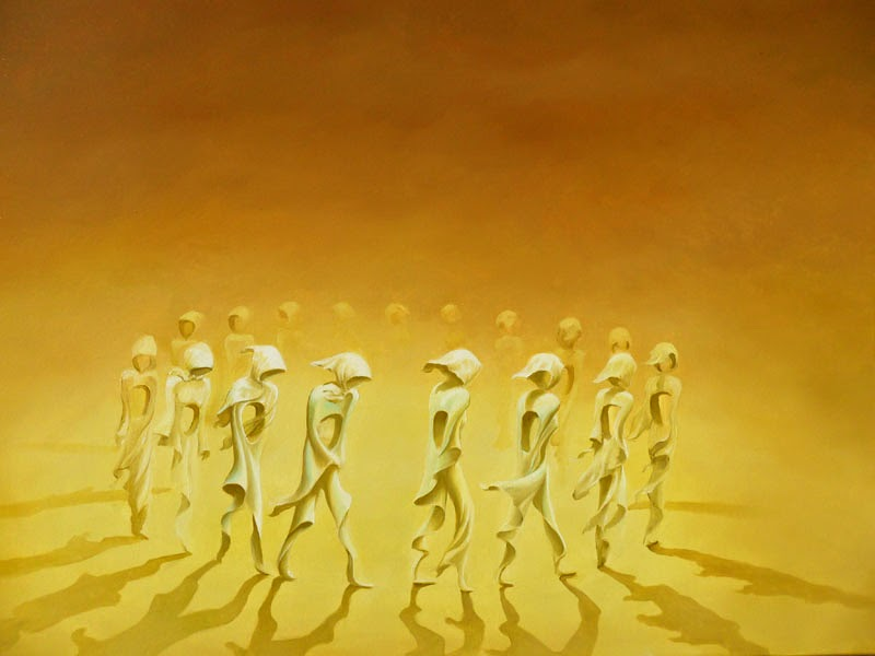 A Roda - Ileana Cerato e seu surrealismo nostálgico ~ Pintor argentino