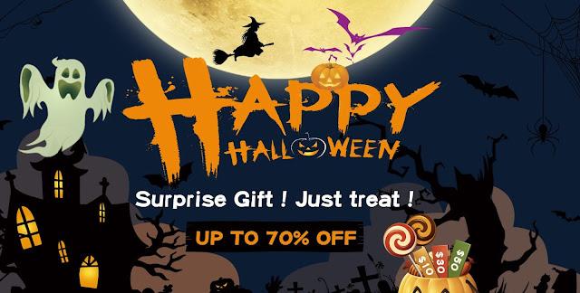 Promoção de Halloween na Tomtop!