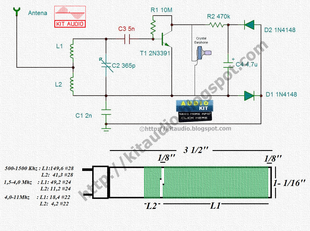 Schematic Diagram Of Am Transistor Radio Alignment Procedure Simple Fm Circuit Page 2 Rf Circuits Nextgr Audio Kit Only One