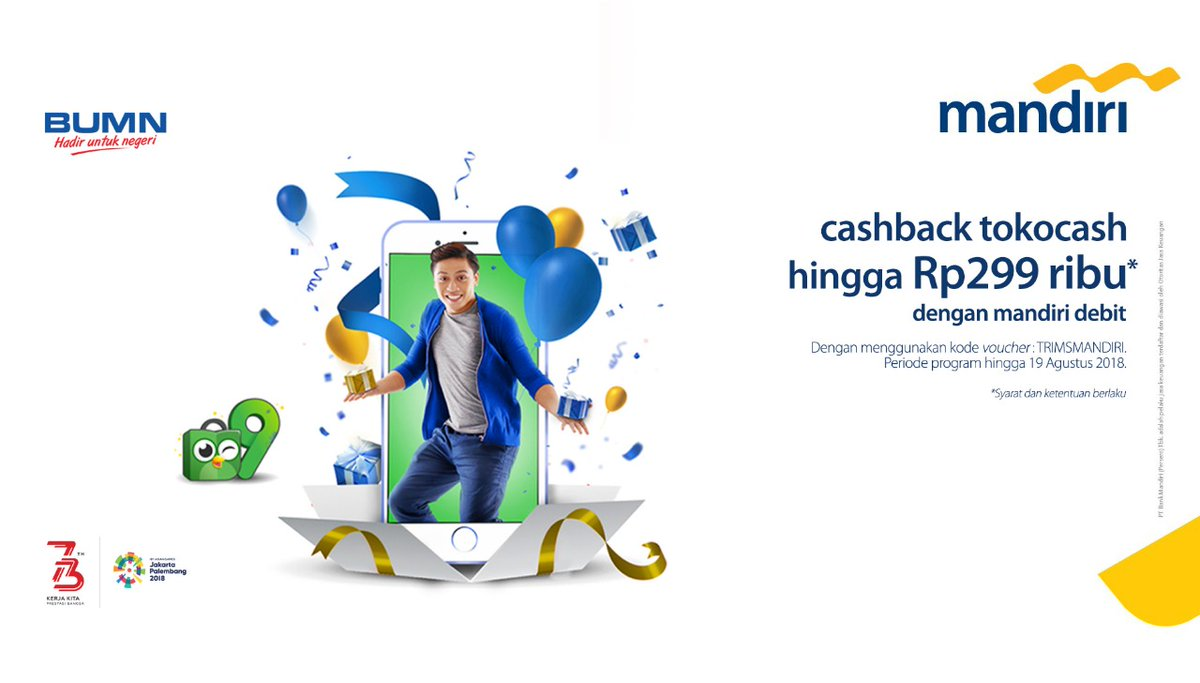 Bank Mandiri - Promo BIG DAY  Mandiri Debit Tokopedia Cashback s.d 299 Ribu
