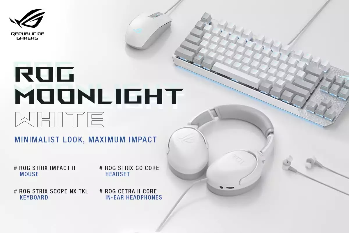 ROG Moonlight White Peripheral Series