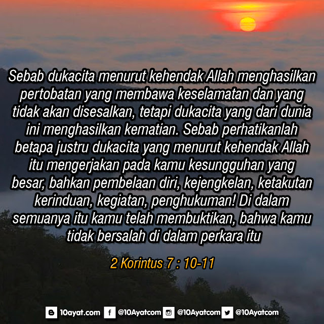 2 Korintus 7 : 10-11