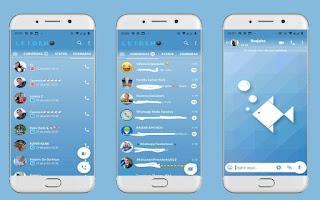 Sky Fish Theme For YOWhatsApp & Fouad WhatsApp By Leidiane