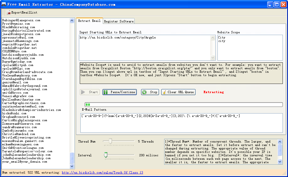 EXTRACTOR EMAIL TÉLÉCHARGER PRO 2.76 ADVANCED