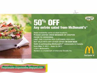 Free Printable Mcdonalds Coupons