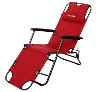 Ancheer Folding Lounge Nylon Outdoor Chair