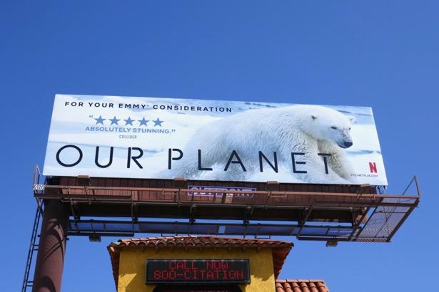 Our Planet Polar Bear Emmy FYC billboard