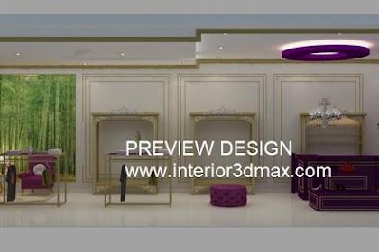 Jasa design butik busana hijab nuansa ungu gold