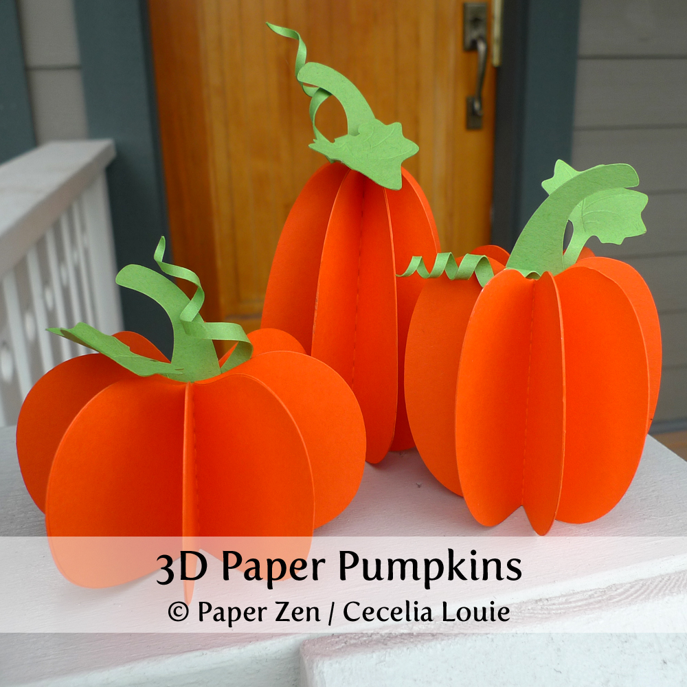 Paper Zen: How to make a Tiger Stripe Paper Pumpkin