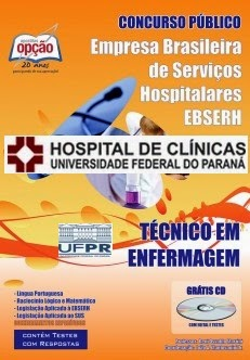 Apostila UFPR EBSERH - Tecnico em Enfermeiro - Hospital de Clínicas (PR) Paraná