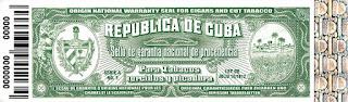 Sello de garantía productos Havana Club Republica de Cuba