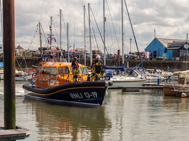 Photo of the all-weather lifeboat from Workington waiting for us to leave the marina