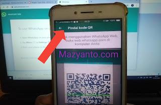 langkah scan kode barcode whatsapp web