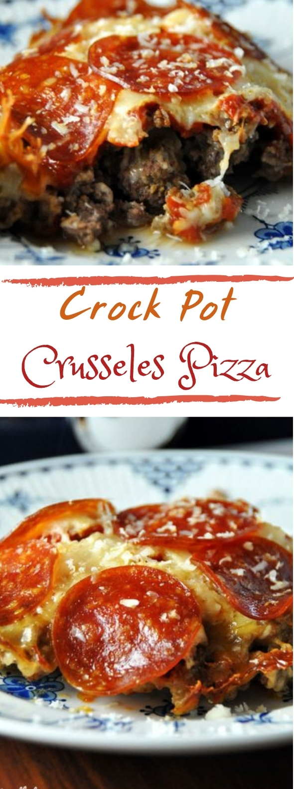 Crock Pot Crustless Pizza #lowcarb #healthymeal