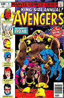 Avengers annual v1 #9 marvel comic book cover art by Don Newton