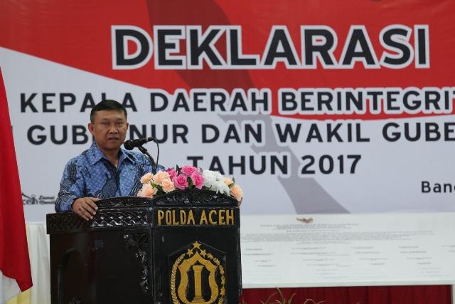 Cagub dan Cawagub Aceh 2017 Tandatangani Deklarasi Damai