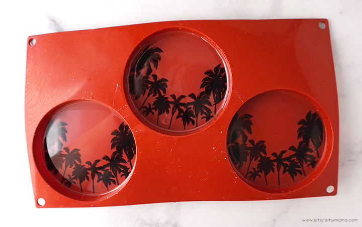 Clear Resin with Palm Tree Printable