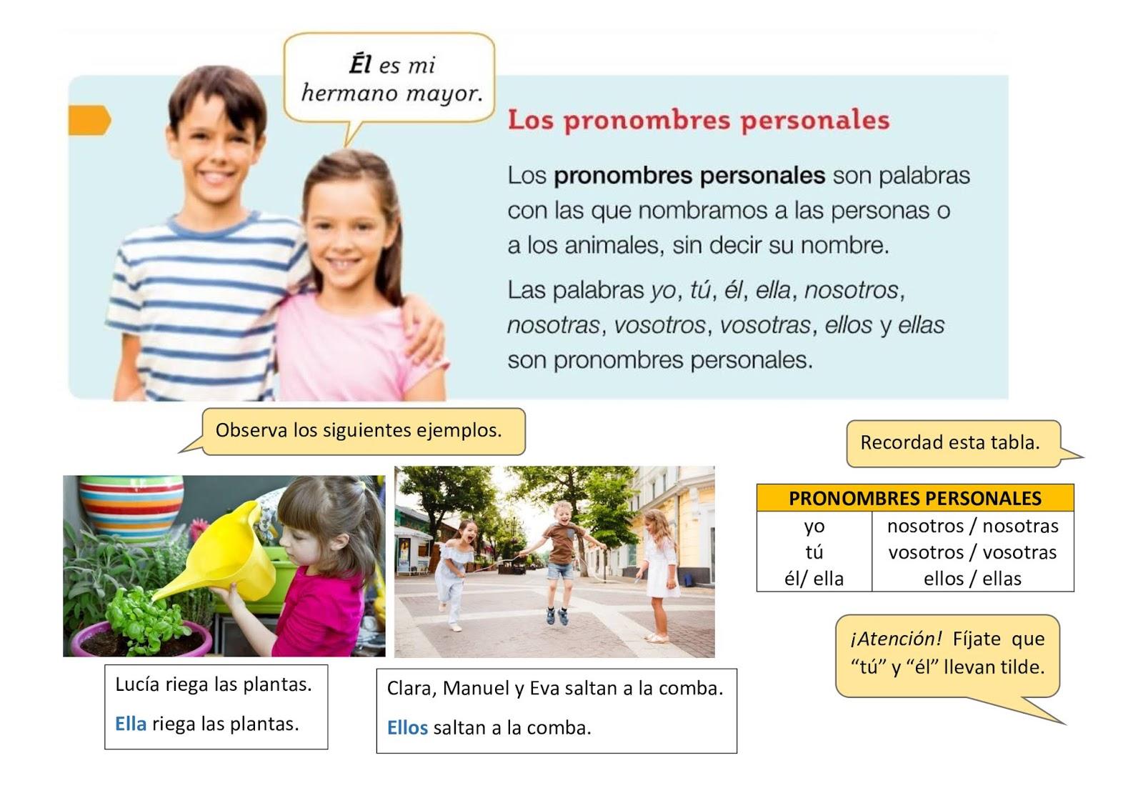 Blog De 2o De Primaria Los Pronombres Personales