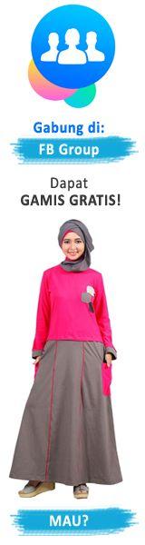 Model Gamis Batik Kombinasi Untuk Orang Gemuk Dan Kurus