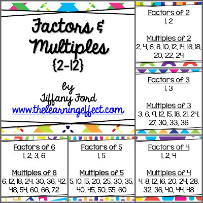 http://www.teacherspayteachers.com/Product/Factors-and-Multiples-Posters-for-2-12-607991