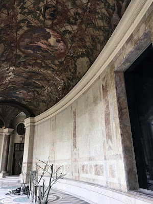 Verandah in Petit Palais as modern art gallery