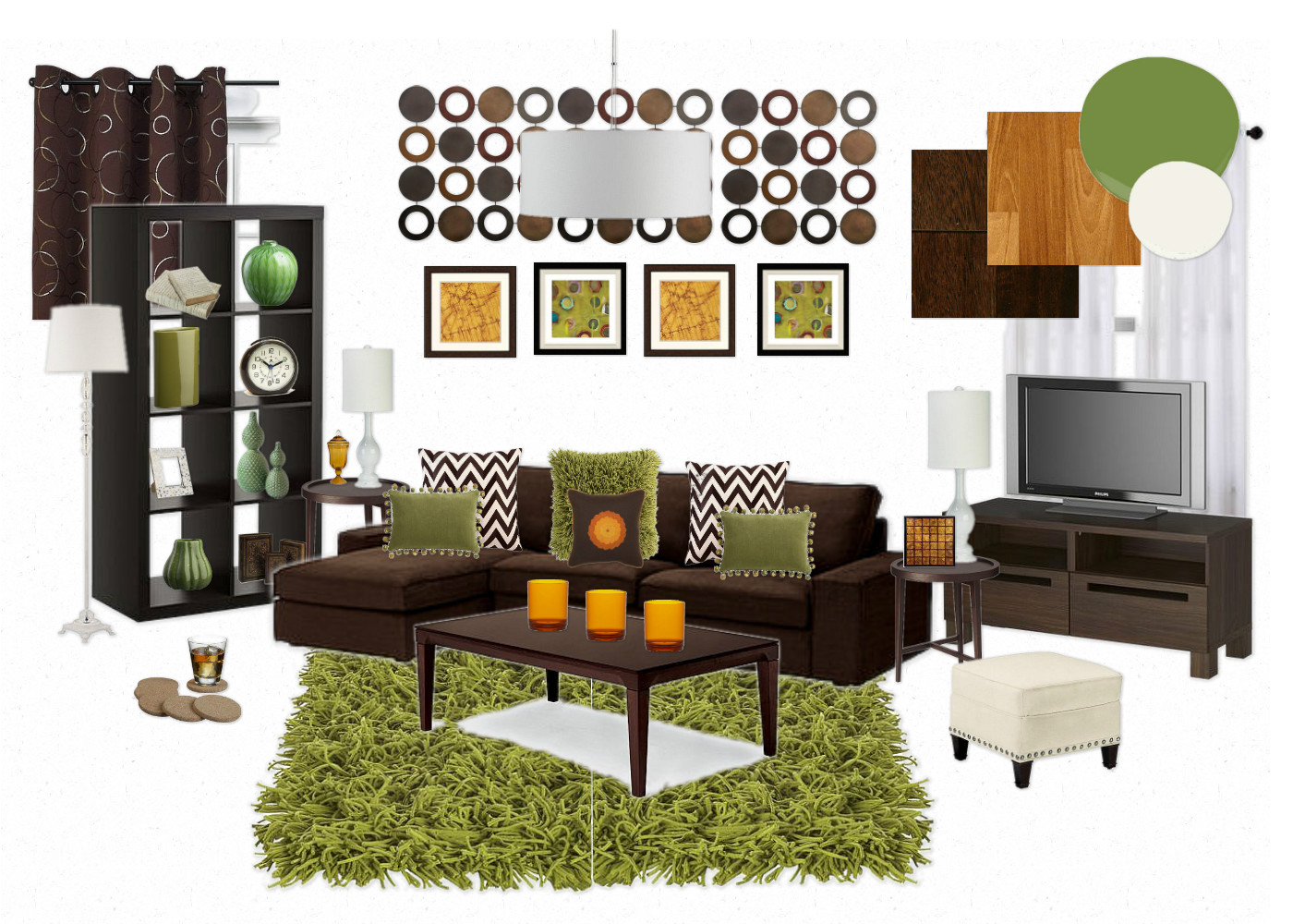 Olive Green Sofa Living Room Ideas Sofaworks Cuddle Chair And Brown