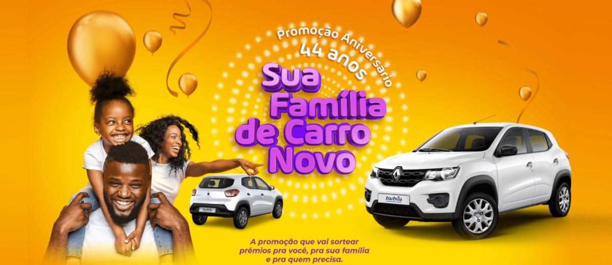 Aniversário 2020 Barbosa Sorteio Carros