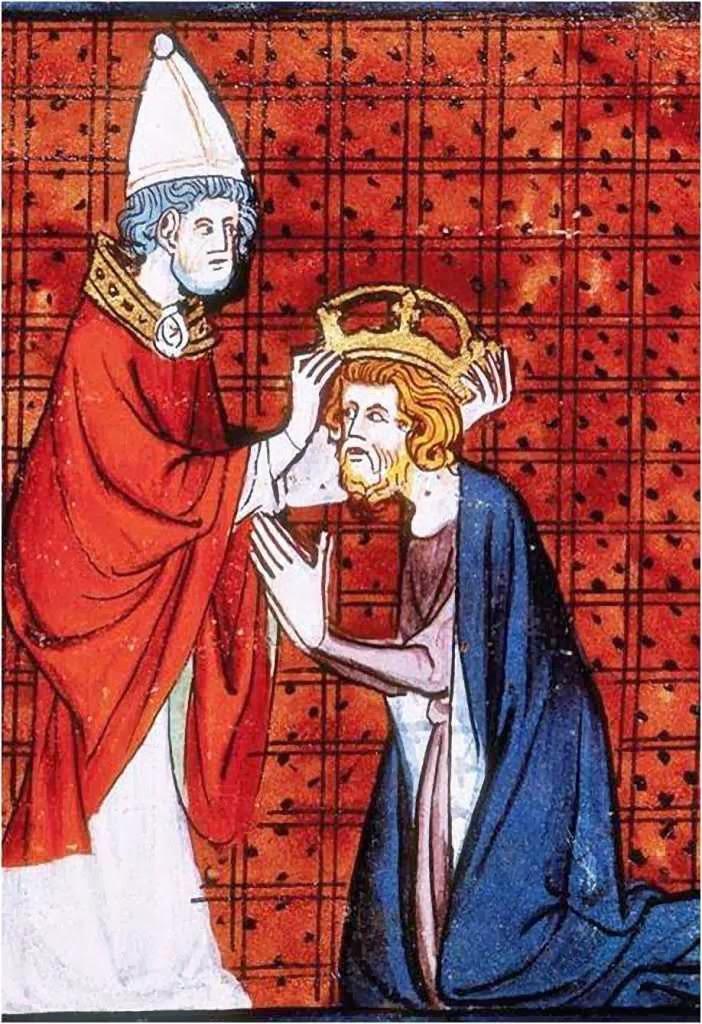 Carlos Magno coroado imperador pelo Papa
