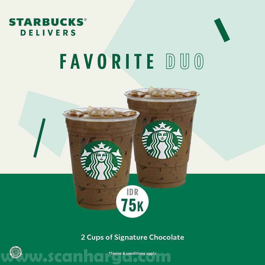 Starbucks Promo Paket Favorite Duo harga hanya Rp 75Rb