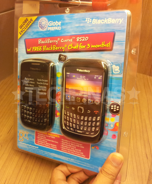 globe blackberry curve, globe blackberry, blackberry curve blister pack, blackberry blister pack
