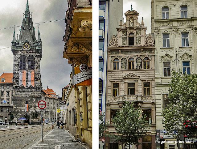 Nové Město, Cidade Nova de Praga: Torre Jindřišská e Praça Venceslau