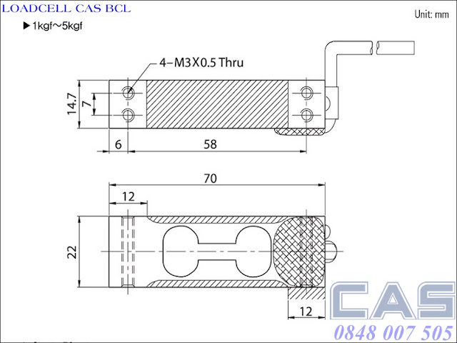 Loadcell-Cas-BCL-1-5kg