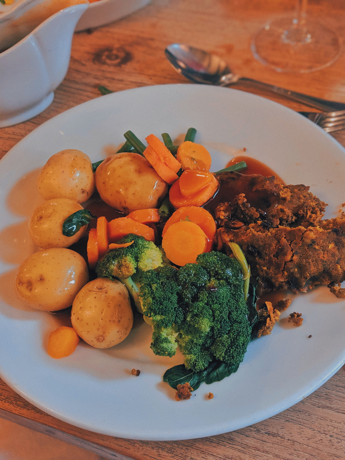 Vegan roast at The Splash at the Royal Oak Inn