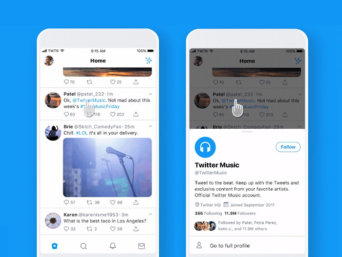 Twitter's new profile preview test makes it easier to see users bio