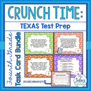 Fourth Grade Test Prep Task Card Bundle