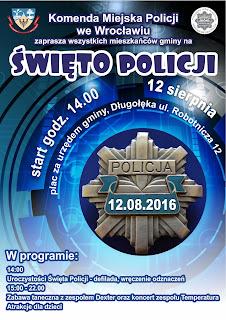 Plakat Święta Policji w Długołęce