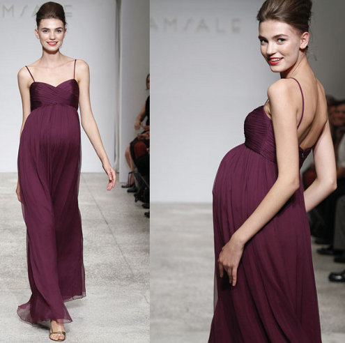 Elegant Bridesmaid Dress Designs For Pregnant Woman