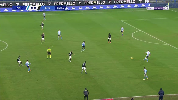 ملخص مباراة نابولي وسبيزيا (2-1) اليوم في الدوري الايطالي