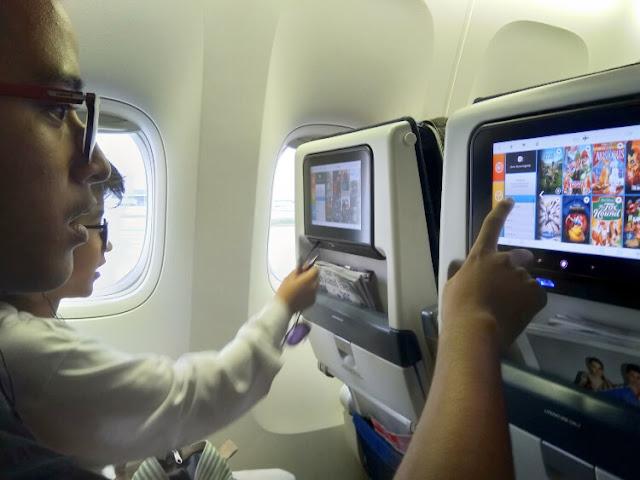 hiburan di pesawat klm