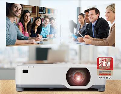 NEC lança projetor laser super silencioso e ultrapoderoso