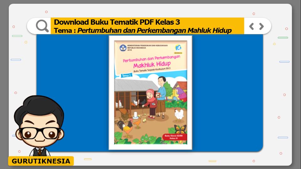 download buku tematik pdf kelas 3 tema pertumbuhan dan perkembangan mahluk hidup