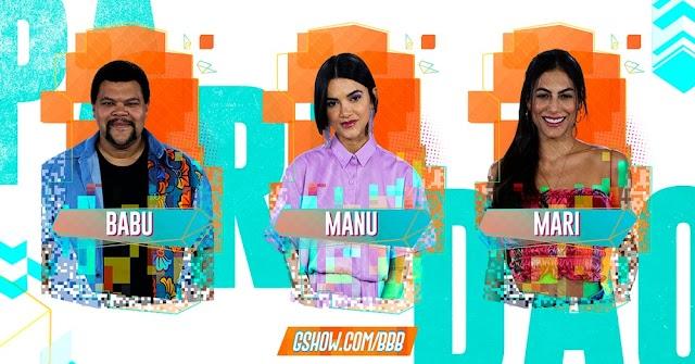 BBB20: Babu, Manu e Mari estão no paredão da semana