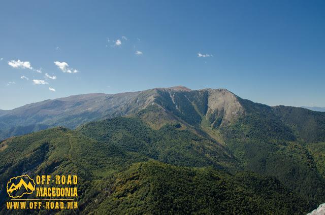 View towards Nidze Peak (also know as Floka) 2.361 m, on Nidze Mountain, Macedonia