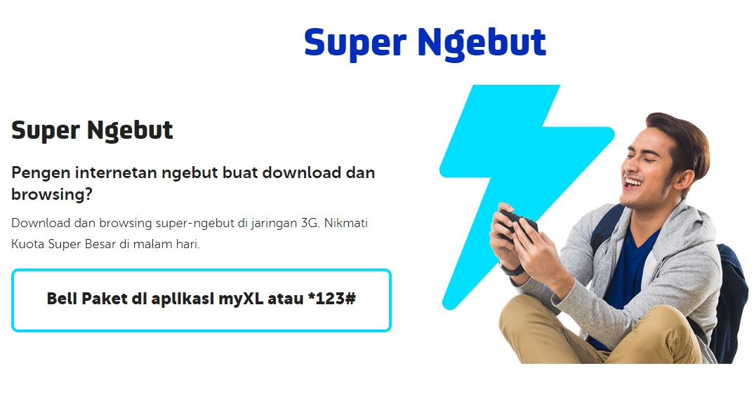 Paket Internet Kece Super Ngebut dari XL