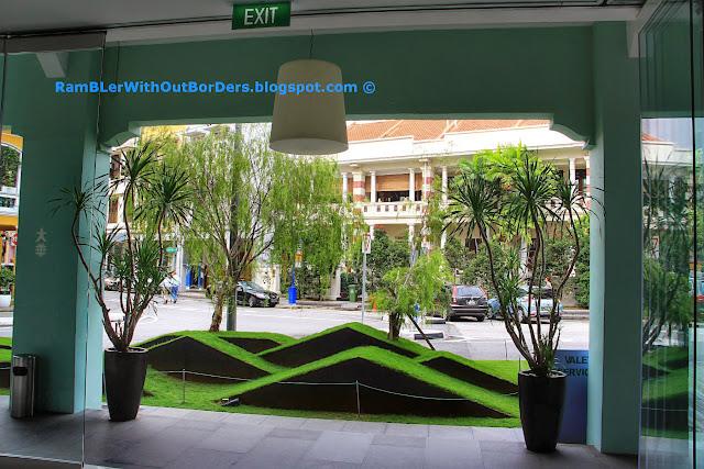 Street view from lobby, New Majestic Hotel, Bukit Pasoh St, Singapore