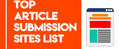 Free Article Submission Sites List 2020