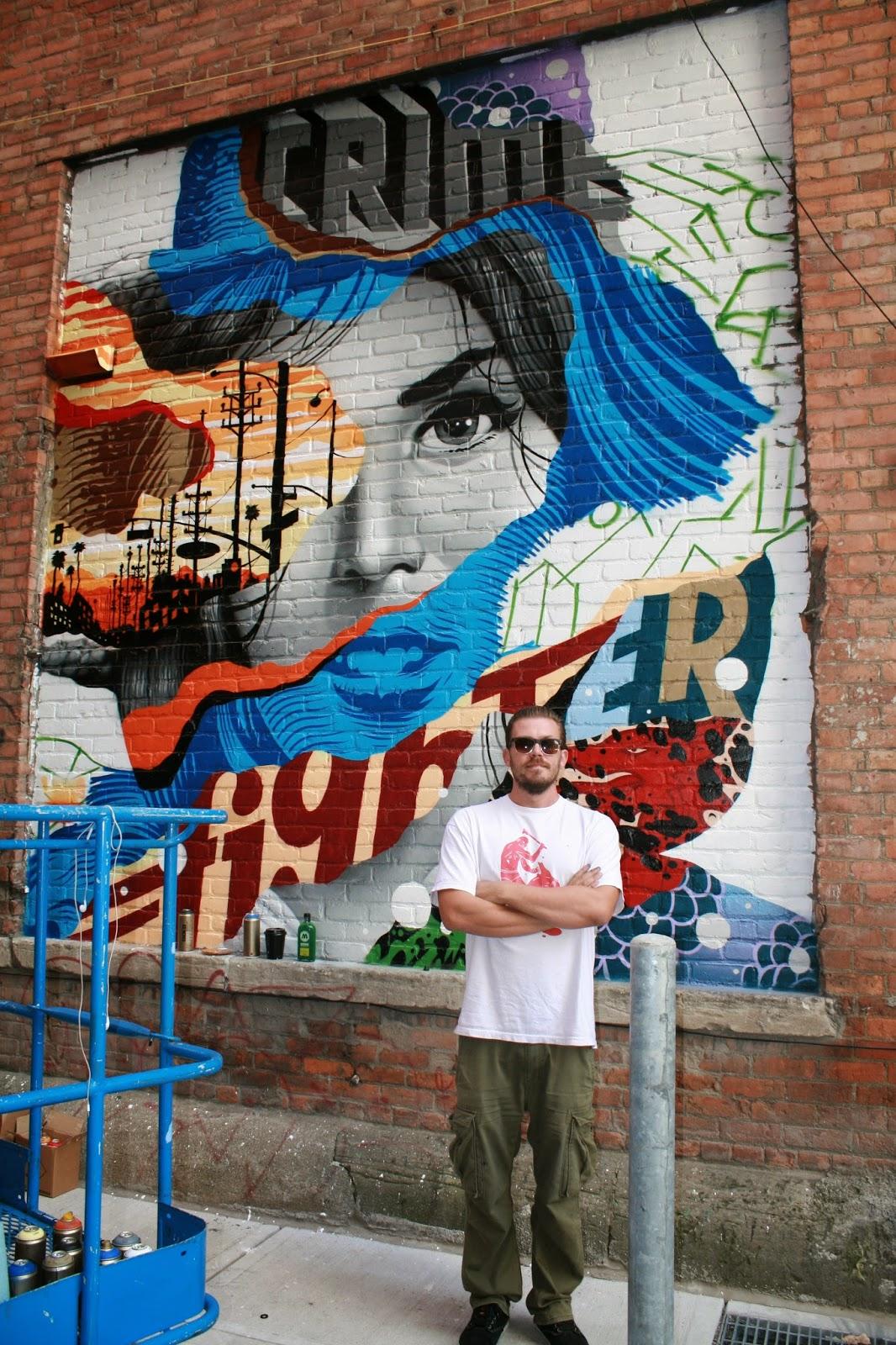 Inside the rock poster frame blog tristan eaton crime for Poster mural 4 murs